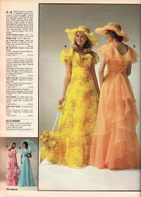 JC PENNEY 1978 Wore the peach dress with the hat in my sister's outdoor wedding Seventies Fashion, 70s Fashion, Fashion Dresses, Vintage Fashion, Winter Fashion, Girl Fashion, Fashion Tips, Vintage Outfits, Retro Outfits