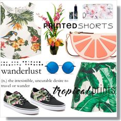 How To Wear Charming in Printed Shorts! Outfit Idea 2017 - Fashion Trends Ready To Wear For Plus Size, Curvy Women Over 20, 30, 40, 50