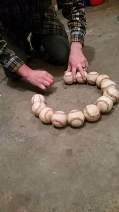 Hometalk | How to Make a Baseball Wreath for Your Front Door