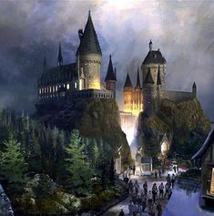 The Wizarding World of Harry Potter at Universal Studios in Orlando, FL. -- I was there opening day!!  Stood in line for seven hours!!!