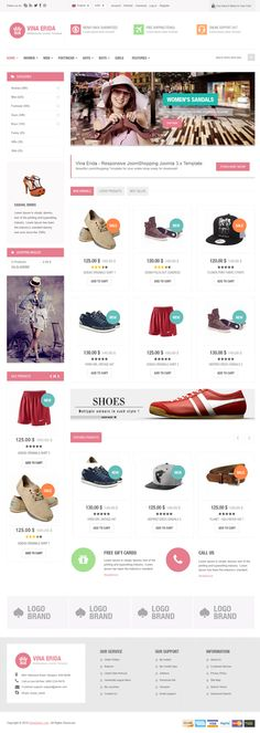 Vina Erida New Multipurpose #Joomla #eCommerce Template #website #design
