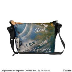 LadyPicasso.me Expresso COFFEE Eco Messenger Ba Courier Bags: created from original tetkaART