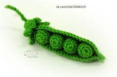 Зелёный горошек вязаный крючком | VK