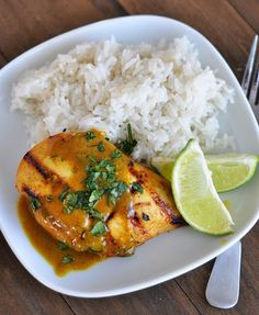 Grilled Lime Coconut Chicken with Coconut Rice | Best Recipes Ever