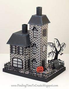Haunted House Assembly Tutorial   Finding Time To Create