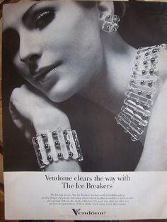RARE Vendome 1968 Ice Breakers Grand Parure ~ Magazine Ad Set