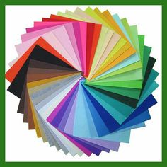 Poliestere Feltro Tessuto A Mano FAI DA TE Cucito Decorazioni Per La Casa Materiale di Spessore 1mm Colore Della Miscela40-30x30