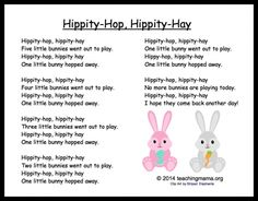 Chants, songs, and rhymes are so much fun for preschoolers. These 5 bunny chants are a great way to teach rhyming and rhythm. Songs For Toddlers, Easter Songs For Preschoolers, Easter Songs For Kids, Easter Activities, Preschool Activities, Time Activities, Finger Plays, Finger Rhymes, Kindergarten