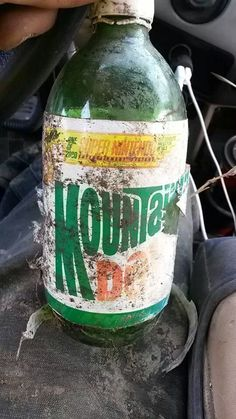 My cousin found a 1992 Mountain Dew bottle in a ditch this week. Under the cap was a winner for a Super Nintendo! - Imgur
