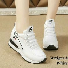 Pengiriman via TIKI PO seminggu say. Keep = no cancel Join me in whatsapp for dropship or reseller 😍 White Wedges, Flat Shoes, Slip On, Sandals, Boots, Sneakers, Casual, Instagram Posts, Cod
