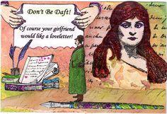 Romantic Post Card mail art (mine)