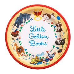 x-purchased Little Golden Books Dessert Plates, 91304