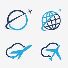 40 Ideas Travel Logo Design Icon Set For 2019 Airplane Icon, Airplane Vector, Airplane Travel, Travel Icon, Travel Logo, Business Travel, Logo Design Inspiration, Icon Design, Set Design