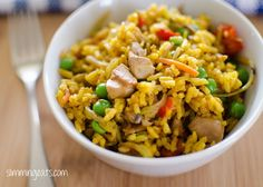 Slimming World Coconut Chicken Curry Rice - gluten free, dairy free, vegetarian, Slimming World and Weight Watchers friendly Slimming World Chicken Dishes, Slimming World Dinners, Slimming Eats, Slimming World Recipes, Curry Chicken And Rice, Curry Rice, Coconut Curry Chicken, Coconut Rice, Healthy Eating Recipes