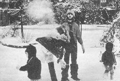 Early 1970, Winter fun for the Starkeys at their new house, Roundhill. They moved in on December 5, 1969 and later sold it in 1973.