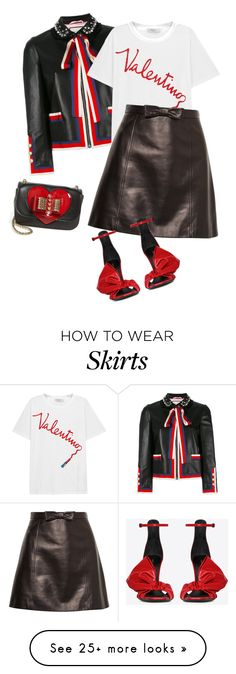 """""""outfit 7484"""" by natalyag on Polyvore featuring Gucci, Valentino, Miu Miu, Yves Saint Laurent and Christian Louboutin"""