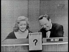 Bette Davis on What's My Line? What's My Line, Celebrity Names, Television Program, Bette Davis, Toy Chest, This Or That Questions, Retro, Funny, Rustic