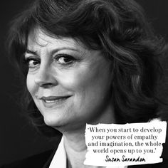 Susan Sarandan on why empathy is essential to bettering your life. Read more of the best love quotes here: www.redonline.co.uk