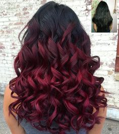 4 bundles ombre dye natural black to bright red full head weft hair was styled using suavecita by nentini pmusecretfo Gallery