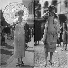 Las prendas femeninas se tornan más prácticas, buscando la comodidad. Para el día, vestidos de corte recto y tejidos resistentes, orientados a la funcionalidad de una mujer trabajadora. Para la noche, la extravagancia es la reina de las fiestas y los clubes nocturnos.