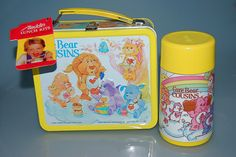 "vintage carebear cousins metal lunchbox and thermos.....Now I feel old, something from my childhood being called ""vintage"""