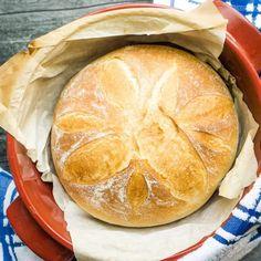 Easy French Bread - Heart's Content Farmhouse Dutch Oven Bread, Dutch Oven Recipes, Cooking Recipes, Oven Cooking, Rye Bread Recipes, Tasty Bread Recipe, Muffin Recipes, Easiest Bread Recipe Ever, Easy Bread