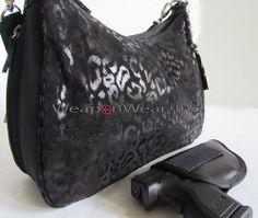 #136 Jet Black Leather Concealment/Concealed Carry Purse [GTM-72LEP/BL scoop leo] - $81.60 : WeaponWearConcealment.com