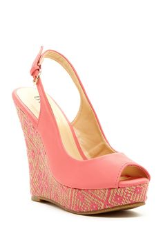 Scout Wedge Sandal #coral