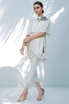 Chiffon Floral Embroidered Top