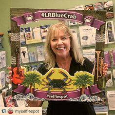 Check out our new #selfiespot for the #LRBlueCrab #Festival! #littlerivercc #littleriversc  #Repost @myselfiespot with @repostapp.