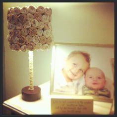 DIY lampshade                                                                                                                                                                                 More