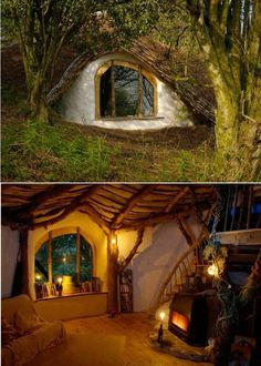 A real Hobbit House, build in Wales from Simon Dales