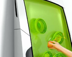 This is a fridge, you put your stuff in the gel, and it suspends it and keeps it cool, reforms after objects are removed.