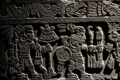 Outside rim of tge Stone of Tizoc, victorious warriors, fifteenth-century Tenochtitlan, Templo Mayor, Aztec, Mexico, Mexico City, Great Temple of the Aztecs.