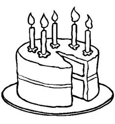 Happy Birthday Cake Online Coloring Page Stuff to Buy