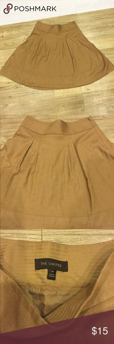 The Limited A Line Skirt Size XS The Limited A-Line Skirt in Camel Brown color and Size XS. In Great condition and very flattering! The Limited Skirts A-Line or Full