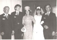 When I was little I thought that the world used to black and white.  Family photo at Aunty Anne and Uncle George's wedding.