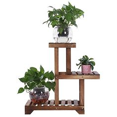 Wooden Plant Stands Indoor, Metal Plant Stand, Diy Plant Stand, Lawn And Garden, Garden Tools, Wood Display Stand, Herb Garden In Kitchen, Outside Patio, Flower Stands