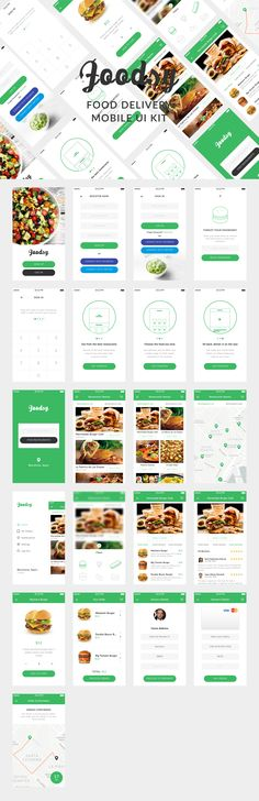 Foodsy is a premium mobile UI Kit to help in your food delivery App development process. It contains all 21 Screens you will need perfectly layered and organised. Each elements is carefully named and grouped so that you can edit, rearrange or straight use them for your app! Please note all app screen graphics are for presentation purposes only.