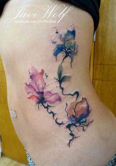 Watercolor flowers :) - Estilo propio  Tattooed by...