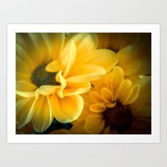 Spring Mums Art Print by Designs by Judy - $24.96