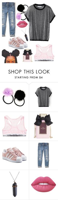 """Get Up"" by royalsavage ❤ liked on Polyvore featuring Carole, Calvin Klein, Kate Spade, adidas Originals, Hollister Co. and Lime Crime"