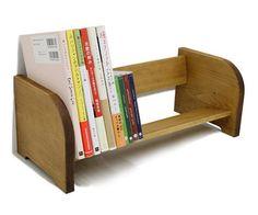 Book Rack by Japan's Cow Books Wooden Book Stand, Wooden Books, Bookshelf Design, Wall Shelves Design, Desktop Bookshelf, Diy Cardboard Furniture, Cd Diy, Bookshelves Kids, Bookcase