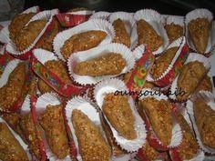 gâteau algérien frit /cornet au sésame et cacahuète, recette cornet au sésame et cacahuète gâteau algérien frit facile et surtout délicieux