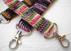 tunisian crochet lanyards (no pattern). I really want to make these!