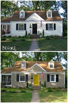 Painted brick homes before and after house painting atlanta home exterior painting epa - Paint exterior brick before after collection ...