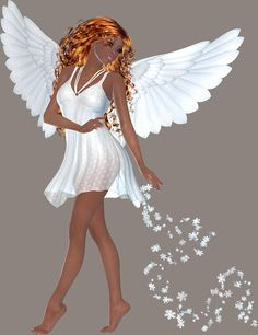 Praying African American Small Angel Girl