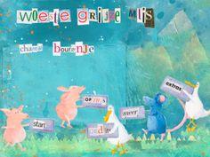 Woeste Grijze Muis    Wat leert je kind van deze educatieve app:    Belangstelling krijgen voor boeken.  Uitbreiding woordenschat.  Kennis maken met geschreven taal.  Taalontwikkeling.  Leren lezen.  Leesvaardigheid en luistervaardigheid oefenen.  Begrijpend lezen.  Concentreren.  Goed kijken naar de plaatjes.  Stimuleren van de fantasie.  Kennis maken met nieuwe situaties.  Doelgroep:  Van 3 – 8 jaar.