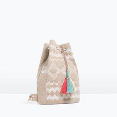 Весна и лето новый детская сумка Зара, вышитые ведро рюкзак 13190106002-написали. ком день кота