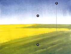 Результат урока рисования пейзажа акварелью